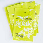 Single use 5ml sachet of Soak modern laundry care. This rinse-free formulation is perfect for washing your favourite knits, laciest lingerie, swim wear, quilts, softest sweaters and all the laundry you love. Soak is biodegradable, phosphate-free, dye-free. Ideal for hand & machine-washing (including front loader/high efficiency).