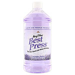 Best Press makes ironing easier and fabrics look like new again. Plus, there's no flaking, clogging, or white residue on dark fabrics! A special stain shield protects fabrics, and the product helps resist and relax stubborn wrinkles. Best of all, it's more effective than any starch you've ever used. Try Best Press today – you will never go back to ironing with spray starch!
