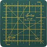 This double-sided single ply cutting mat offers both imperial and metric measurements.Single ply. Double-sided mat includes both imperial and metric on gridded side and a blank cutting surface on the other side. Self-healing. Convenient 45° and 60° markings.