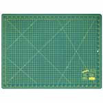"Single ply. Double-sided mat includes both imperial and metric on gridded side and a blank cutting surface on the other side. Self-healing. Convenient 45° and 60° markings. Mat: 17 3/4"" x 23 5/8"" (45 x 60 cm). Grid:  17"" x 23"" (43 x 58 cm)"