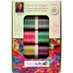Ten spool Sulky 30wt. Blendable<sup>TM</sup> Cotton Thread Collection. Includes a FREE leaf design from the book &quot;Quick and Easy Weekend Quilting with Sulky&quot;..