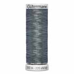 Gütermann Dekor Metallic thread is a versatile and strong metallic thread. It can be used for machine embroidery and hand sewing, and is appropriate for decorative and topstitching on both quilts and garments. Creates beautiful, reflective and shimmering effects and is a beautiful compliment to Gütermann Dekor 100% Rayon thread in an embroidery design. Works best when used with a sewing aid like UNIQUE SEWING Sew Smooth Lubricant #3030650. Grey spool colour. TKt No. 120, Tex: 26, Dtex: 260, 1-ply. Suggested needle size: US 12/14 (80-90).