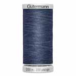 Gütermann poly-cotton jean thread comes in two beautiful and useful colours; indigo and stonewash. Use when stitching denim fabrics or creating denim-look embroidery. Ideal for hand and machine sewing. Grey spool colour. TKt No. 75, Tex: 40, Dtex: 400, 2-ply. Suggested needle size: US 12/16 (80-100).