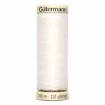 Gütermann Sew-all thread is the right sewing thread for all fabrics and seams. It's great in high performance machines because of its high tensile strength and elasticity. Sew-all thread is designed to handle the demands of all stitch types. Not only is Sew-all great for construction, but due to its beautiful finish is can be used for ornamental and decorative seams and even thread painting. Made in Germany to the highest technical standards. No fibre lint when sewing. Recommended needle size 70 – 90. Beige spool colour.  TKt No. 100, Tex: 30, Dtex: 300, 2-ply. Suggested needle size: US 10/14 (70-90).