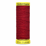 Gütermann elastic thread is perfect for gathering, crimping and smocking. It can also be a tracer yarn for knitting and crochet work. For sewing Gütermann thread is suitable only in the bobbin in machine use.. Yellow spool colour. TKt No. 18, Tex: 190, Dtex: 1900, 1-ply.