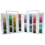 104 of the most used Sulky 40 wt. Rayon colours within the clear Slimline storage box that can conveniently hold up to 104 spools and weighs only 4 lbs when full..