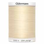 Gütermann MCT Sew-All thread is the right sewing thread for all fabrics and seams. It's great in high performance machines because of its high tensile strength and elasticity. Sew-All thread is designed to handle the demands of all stitch types. Not only is Sew-All great for construction, but due to its beautiful finish is can be used for ornamental and decorative seams and even thread painting. Made in Germany to the highest technical standards. No fibre lint when sewing. White spool colour. Tkt No. 100, Tex: 30, dtex: 300. Suggested needle size: US 10/14 (70-90).