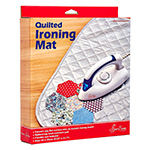 Convert any flat surface into an instant ironing board. Perfect for quilting and quick presses. Works on top of washing machines, kitchen tables, floors, etc. Quilted top heat resistant pad is flexible and foldable. Mat size: 60 x 55cm (23.6″ x 21.7″).