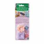 Easily create small embellishments with yarn or thin ribbon such as hair accessories, brooches, or  piece your patterns together to create a motif. The Mini Flower Loom includes: 1 Square Shaped Loom, 1 Round Shaped Loom, and 1 Darning Needle. Clover #3139