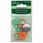 Small rings fit needle sizes #11 - 15 (8.0 - 10.0mm), and large rings fit sizes #17 - 35 (12.0 - 19.0mm). Clover #354