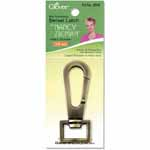 Personalize your creations with Nancy Zieman's functional yet stylish Bag Hardware Options! For a functional yet stylish closure, use the Swivel Latch with D-Rings, O-Rings or Rectangle Rings. Size: <sup>3</sup>&frasl;<sub>4</sub>&quot; (18mm), Satin Bronze.