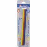 This 3pc. set of light-weight crochet hooks in bright colours of red (4.0mm), yellow (5.0mm) and blue (5.5mm) are the perfect starter kit for kids.