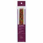 These vibrant rainbow coloured double point needles are made of a strong, polished, smooth laminated birch wood. Yarn slides freely along the needle without catching, but has enough grip to easily manage slippery yarns.