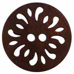 The Inspire<sup>TM</sup> line of buttons will spark creativity whether used for yarn creations, fabric arts, or uniquely crafted soft furnishings. Dark brown coconut button. 20mm. 2 holes.