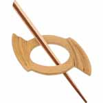 The inspire<sup>TM</sup> line of shawl pins are ideal for knitted shawls, sweaters and wraps.