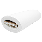 This non-woven, 100% polyester fusible stabilizer is double sided and provides extra definition and support for crafting, home decorating and apparel projects. Examples of projects that are well suited for this interfacing are hand bags, fabric boxes, bowls, place-mats, and costumes. Note: For areas that require extra rigidity, use two layers instead of one.