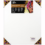 Double thick canvases feature a 38mm deep frame that offers a clean edge look with no further framing required. Triple coated with universal primer. Suitable for moderate application of paint and light collage techniques. Features: acid free 380 canvas, 100% unbleached cotton duck in high density weave, mitred corners and double row back stapled, timber profile of 38 x 38mm pine wood frame. Sizes over 60cm include bracing and wooden stretcher keys. Shrink wrapped with corner protectors, and kiln dried stretcher bars in extensive range of sizes. Mont Marte logo and production number hot stamped onto frame to verify authenticity and quality assurance.