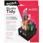 One of the best ways to make your art project flowing is to ensure that the art tools are organized and accessible. Defining art supplies storage help you find your tools quickly and easily. Made with strong durable plastic frame, studio tidy perfectly compartmentalises brushes, pencils and modelling tools in 96 compartments.