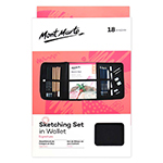 The Mont Marte 18 piece Signature Sketching Set keeps all your drawing supplies in a convenient organizer wallet ready to go when you are.