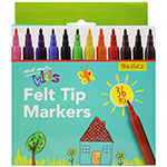 Explore different combinations with these 36 brilliant colours which kids have the essential on hands for crafty projects and lets them discover and create something wonderful. Kids Felt Tip Markers are amazing for drawing and colouring. The thin tips 0.08″ (2.2mm) allow for intricate, detailed and outlined works.