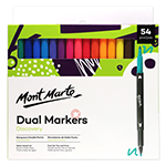 Discovery Dual Markers each one of 54 rich colours dual fine and thick marker let you make it simple or complex but still you can come out with incredible result. These set gives you the best performance with a fine and thick tip. water-based ink are suitable for drawing, colouring and hand lettering.