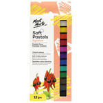 Mont Marte Soft Pastel 12 colours pencils with high-quality pigments give to the fantastic spectrum of pastels with the ease and accuracy of pencils. Pastels are bright coloured drawing materials which have a soft, chalky texture. The side of the pastel can be used to paint large areas and the tip of the pastel to create fine lines.
