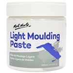 The lightweight formula of Mont Marte Light Moulding Paste is perfect not only to achieve a variety of effects and expressions but also create foundations for painting texture over a smoother surface. This versatile molding paste dries to an opaque to allow you to create a highly textured surface, blends with acrylic colours to set your style.