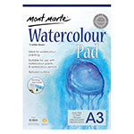 This pad is fantastic for professionals who like to try out new art techniques but also for students and beginners with no prior experience but also. Mont Marte Watercolour Pads German paper has 15 sheets of 180gsm, Acid-free paper and is made in medium tooth textured paper. The sheets are supported by a 2mm thick backing board and it's available in A5, A4 and A3.