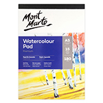 Mont Marte Watercolour Pads German paper has 15 sheets of 180gsm, Acid-free paper and is made in medium tooth textured paper. This pad is fantastic for professionals who like to try out new art techniques but also for students and beginners with no prior experience but also. The sheets are supported by a 2mm thick backing board.