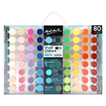 """Signature Vivid Colours Acrylic Paint Set. With 80 paint pots filled with silky smooth acrylic paint, this set gives you the freedom to create with a broad range of colour. Features: 80 x 3.5 ml paint pots; smooth consistency; fast drying; wide range of vibrant colours; perfect set for designers and beginner artists."