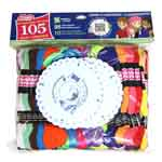 Includes 10 flourescent and 95 solid coloured skeins of 6 strand, 8m (8.7yd) 100% mercerized cotton embroidery/craft floss.