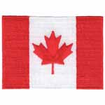 Large Canadian flag motif. Elan iron-on motifs are an easy creative way to add pizzazz to your garments, breathe new life into old garments or a fun repair solution to patch up rips and tears on children's clothes.