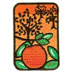 Peaches motif. Elan iron-on motifs are an easy creative way to add pizzazz to your garments, breathe new life into old garments or a fun repair solution to patch up rips and tears on children's clothes.